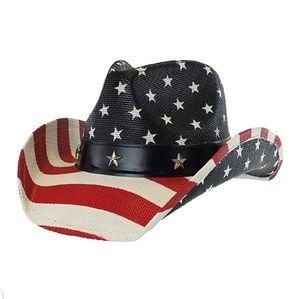 Shapable Cowboy Hat American Flag Patriotic